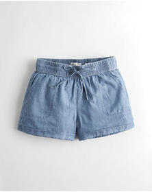 Hollister Ultra High-Rise Chambray Short, BLUE