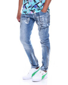Buyers Picks coated stretch slim fit jean