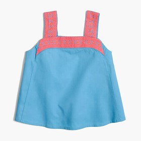 J. Crew Factory Girls' embroidered tank