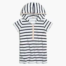 J. Crew Factory Girls' terry hoodie dress in strip