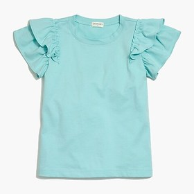 J. Crew Factory Girls' bright flutter-sleeve T-shi