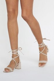 Nasty Gal Womens Nude Available in High Tie Wrap a