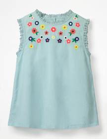 Boden Floral Embroidered Top