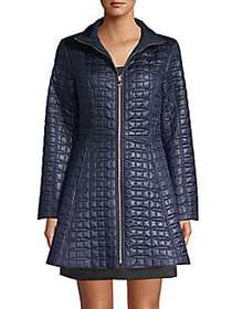 Kate Spade New York Quilted Bow A-line Jacket ENGL