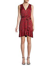 Alice + Olivia Brooks Leopard-Print A-Line Dress R