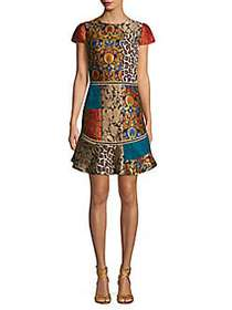 Alice + Olivia Mixed-Print Sheath Dress MULTI