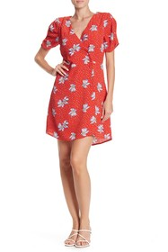 Willow & Clay Floral Print Surplice Wrap Dress