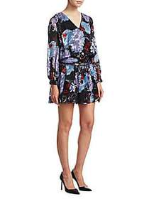 Alice + Olivia Tessie Mini Dress BLACK MULTI