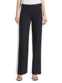 Theory Striped Snap-Accented Track Pants BLACK IVO