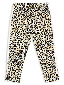 Betsey Johnson Little Girl's Leopard-Printed Jogge