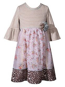 Iris & Ivy Little Girl's Printed Floral & Leopard