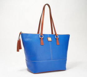 """As Is"" Dooney & Bourke Pebble Leather Tobi Tote -"
