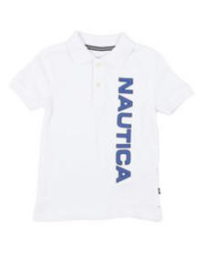 Nautica classic fit oxford polo (2t-4t)