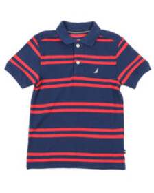 Nautica classic fit striped polo (4-7)