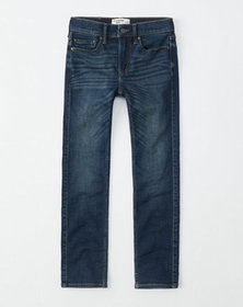 straight jeans, dark wash