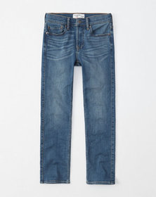 straight jeans, medium wash