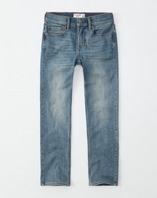 straight jeans, light medium wash