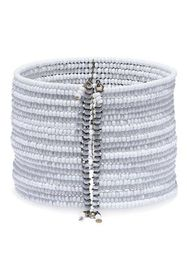 KENNETH JAY LANE Gunmetal-tone beaded cuff