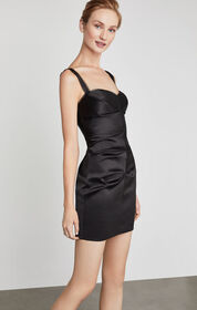 BCBG Strappy Satin Sheath Dress