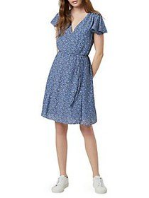 French Connection Agata Floral Georgette Dress ANA