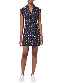 French Connection Roseau Meadow Mini Wrap Dress UT