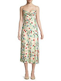CMEO COLLECTIVE Sleeveless Floral Midi Dress APRIC