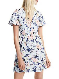 French Connection Armoise Crepe Mini A-Line Dress