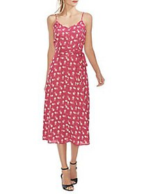 Vince Camuto Oasis Ditsy Floral A-Line Dress WILD
