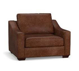 Pottery Barn Big Sur Slope Arm Leather Armchair