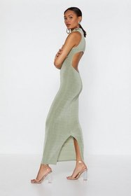Nasty Gal Womens Sage Maxi Backless High Neck Dres