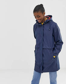 ASOS DESIGN raincoat with brushed check lining
