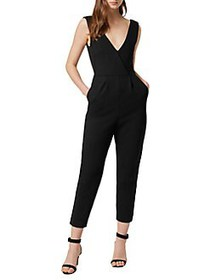 French Connection Marie Sleeveless Jumpsuit BLACK