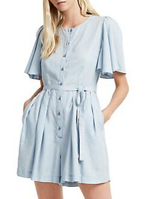 French Connection Julienne Ruffled Waist-Tie Rompe
