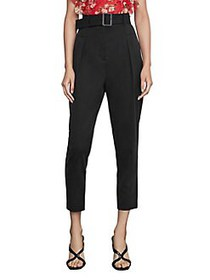 BCBGMAXAZRIA Single Pleated High-Waist Pants BLACK