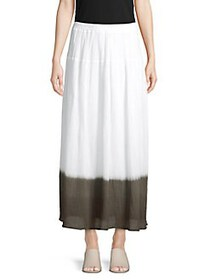 Bailey 44 Contrast Cotton A-Line Skirt WHITE PALM