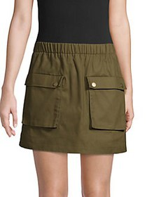 CAARA Numan Flap-Pocket Skirt OLIVE