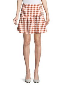The Fifth Label Nouveau Check Mini Skirt RUST