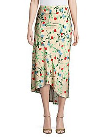 CMEO COLLECTIVE Floral Sectional Skirt APRICOT
