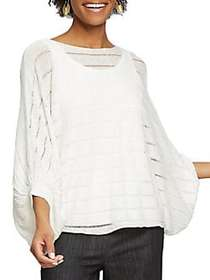 NIC+ZOE Sunday Brunch Top PAPER WHITE