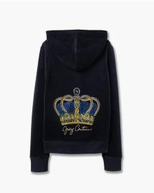 Juicy Couture HOLIDAY CROWN LOGO ROBERTSON JACKET