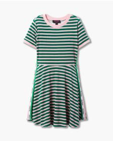 Juicy Couture STRIPED MICROTERRY TRACK DRESS