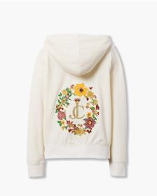Juicy Couture FLORAL CAMEO VELOUR ROBERTSON JACKET