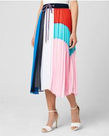 Juicy Couture COLORBLOCKED PLEATED SAIL SKIRT