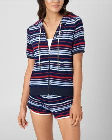 Juicy Couture MICROTERRY BURNOUT STRIPE JACKET