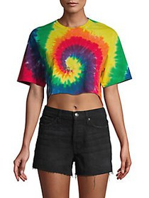 French Connection Pride Tie-Dye Crop Top MULTI