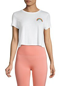 French Connection Pride Rainbow Crop Top SUMMER WH