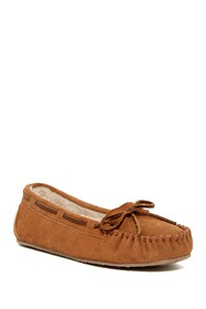 Minnetonka Junior Trapper Faux Fur Lined Moccasin