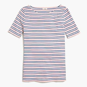 J. Crew Factory Striped perfect-fit open-neck T-sh