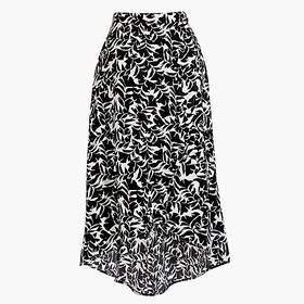 J. Crew Factory Faux-wrap pull-on midi skirt in pr