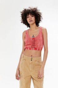 UO Lace-Up Cropped Tank Top